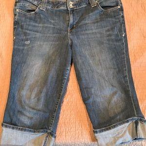 Lane Bryant jean capris, size 18